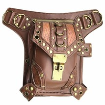 Steampunk Waist bag Fanny Pack Retro Fashion Gothic Casual Leather Purse - $54.04+