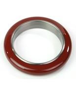 Bottega Veneta Bracelet Bangle Red Oxidized Silver Medium RRP £625 - $247.00