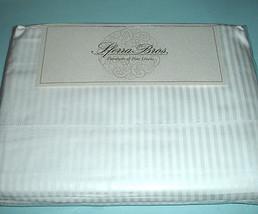 Sferra ELYSE STRIPE Queen Sheet Set WHITE 300 TC Egyptian Cotton Sateen NEW - $259.90