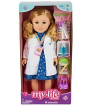 "My Life As Scientist 18"" Posable Doll Blonde Hair w/ 13 Piece Accessorie... - $34.64"