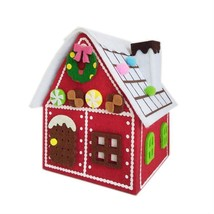 Gingerbread House Felt Red House For Christmas Candy Gift Bag Christmas ... - $24.03
