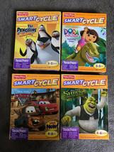Smart Cycle Software Lot Shrek Cars 2 Dora the Explorer Penguins of Madagascar - $49.49