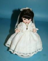 """Madame Alexander My First Communion Doll 8"""" Brunette Hair Dress Cross Ne... - $120.94"""