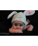 (46)Hand crocheted baby Easter Bunny beanie/cap/hat & diaper cover  phot... - $20.00