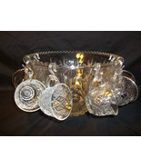 Vintage Crystal Punch Bowl Set, Salad Bowl. - $55.00