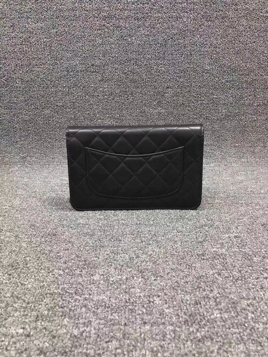 bd705fb10b6c NEW AUTH CHANEL 2019 Black Lambskin WOC Wallet on Chain WOC Bag GHW ...