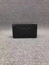 NEW AUTH CHANEL 2019 Black Lambskin WOC Wallet on Chain WOC Bag GHW image 2