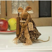 """farmhouse primitive country rustic fabric Baker MOUSE w Rolling Pin 7"""" doll - $34.99"""