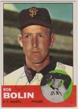 Bob Bolin Signed Autographed 1963 Topps Baseball Card - San Francisco Gi... - $12.99