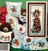 Cross Stitch Noah's Ark Baby Sampler Bunny Deer Ballerina Bears Cat Fish... - $13.99
