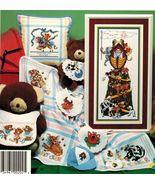 Cross Stitch Noah's Ark Baby Sampler Bunny Deer Ballerina Bears Cat Fish... - $13.99