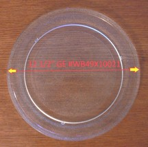 "12 1/2"" ORIGINAL GE GLASS TURNTABLE PLATE / TRAY #WB49X10021 Used Clean - $34.64"