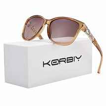 KERBIY Polarized Sunglasses for Women TAC Gradient Fashion ShadesChampagne - $28.15
