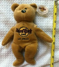 HARD ROCK Cafe La Jolla Classic Tan Brown Teddy Bear Tags First in a series - $9.16