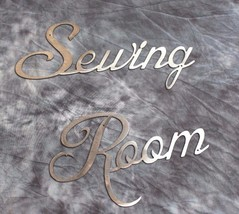 Metal Wall Art Decor Sewing Room Polished Silver Steel - $12.86