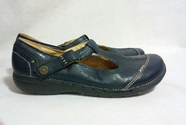 Clarks Blue Leather Mary Jane Shoes, Size 11W - $54.79
