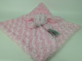 Blankets and Beyond Pink Gray Soft Bunny Lovey Security Blanket Plush St... - $15.10