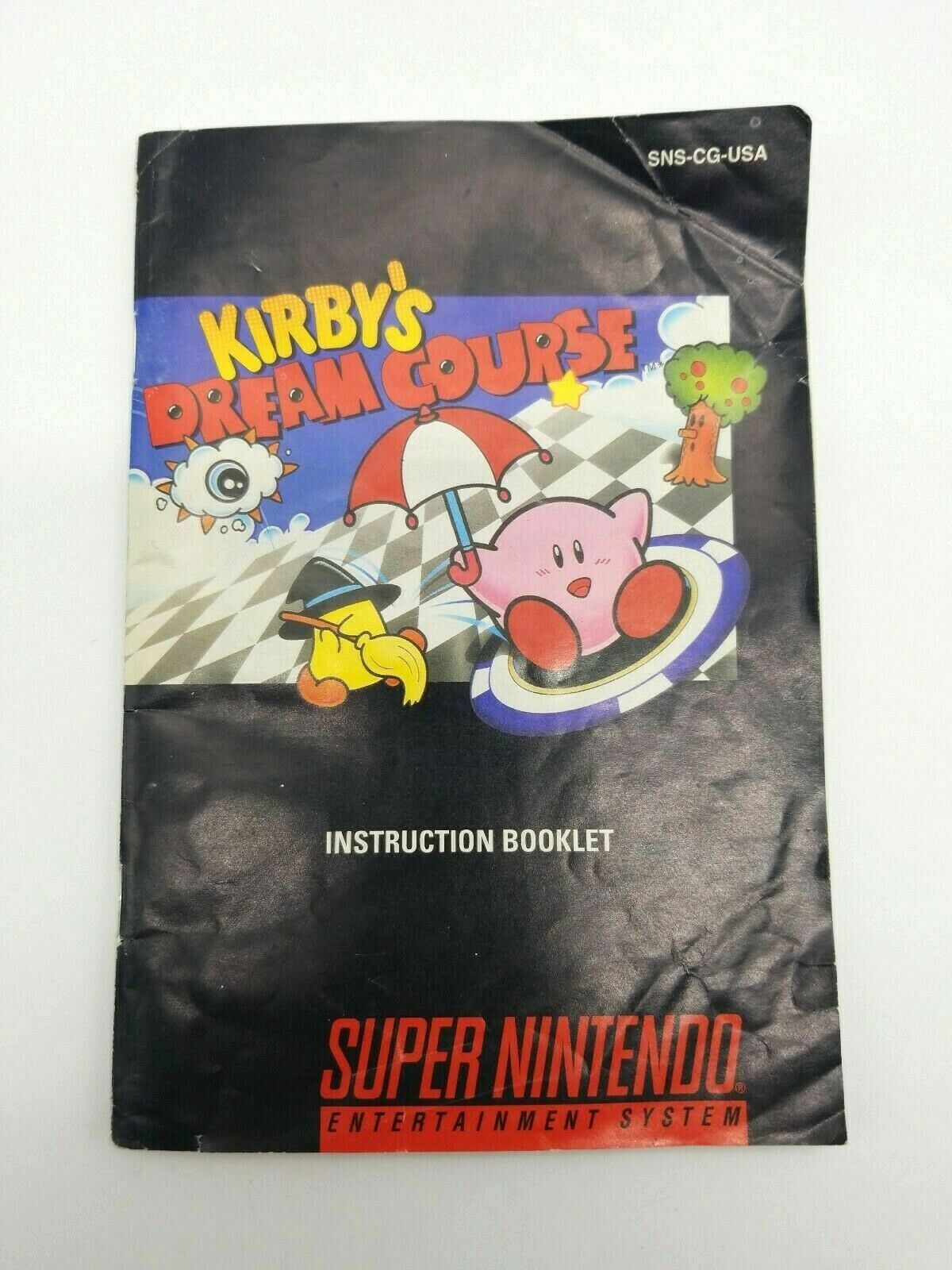Kirby's Dream Course Instruction Booklet Manual Super Nintendo SNES