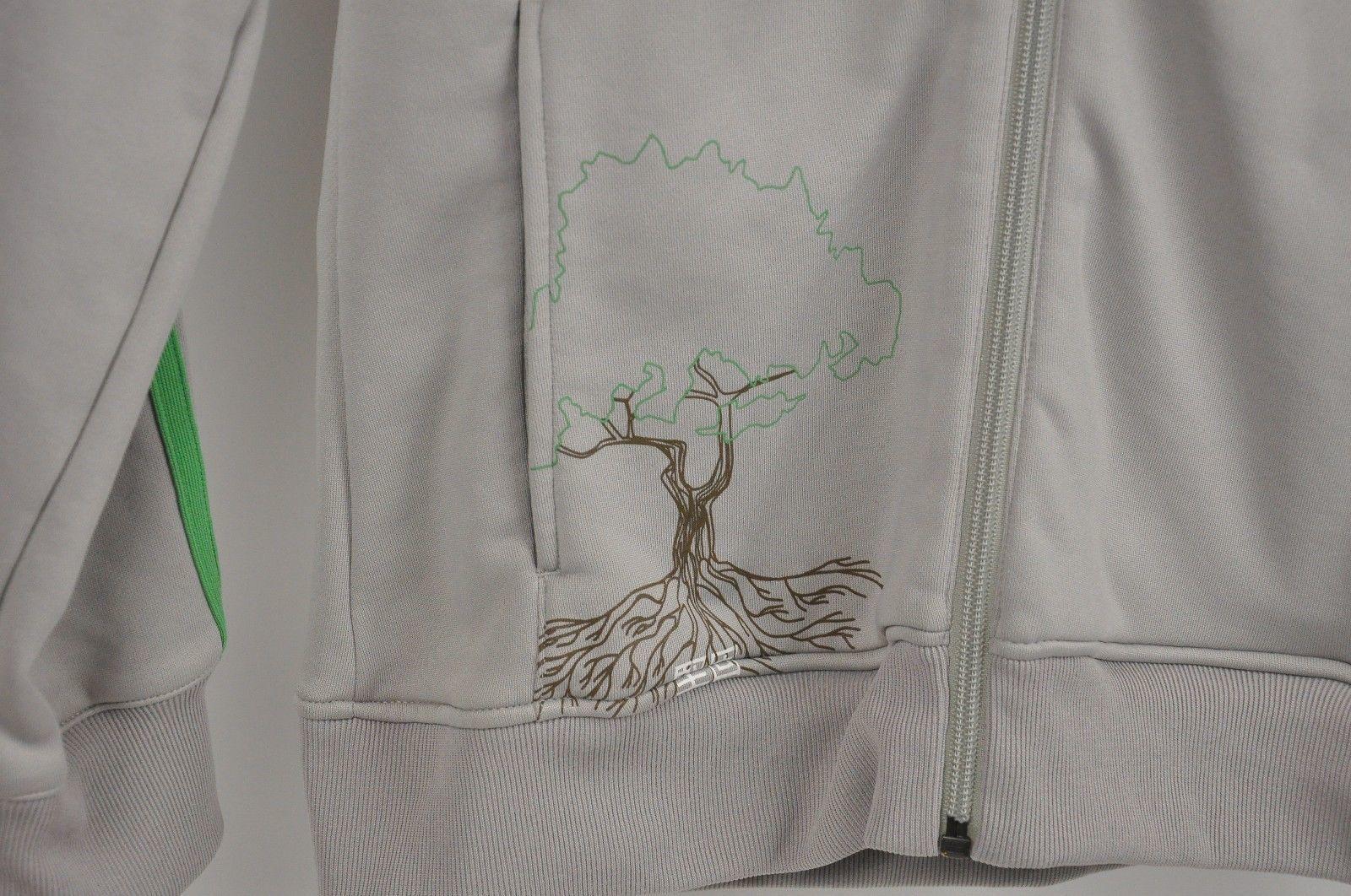 Women's ADIDAS 2008 Beijing China OLYMPICS Track Jacket Taupe/Lime Tree Size M