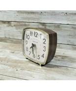 "Westclox - Faux Wood Grain 3"" x 3"" Alarm Clock - Missing Winder - $14.99"
