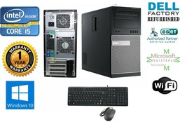 Dell Gaming Tower Pc i5 2500 Quad 3.3GHz 8GB New 1TB Hd & Win 10 Pro 64 Fx 380 - $296.90