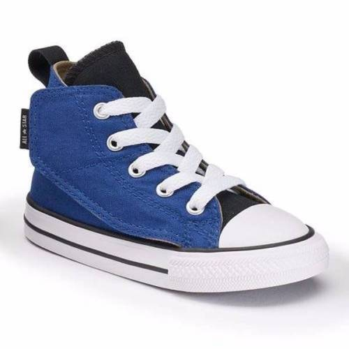 Infant Converse Sz 5 Chuck Taylor All Star Simple Blue Hi-Top Sneaker Roadtrip