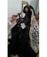 Santa muerte mejicana gran tamaño vestida - $334.69