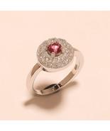 Madagascar Pink Sapphire Gemstone Sterling Silver Midi Ring Fashion Jewe... - $14.81