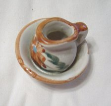 Miniature Pitcher and Wash Bowl One Piece Handpainted - $14.99