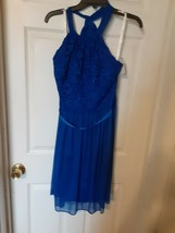Royal blue party/bridesmaid dress from David's bridal, size 14 new with ... - £17.84 GBP