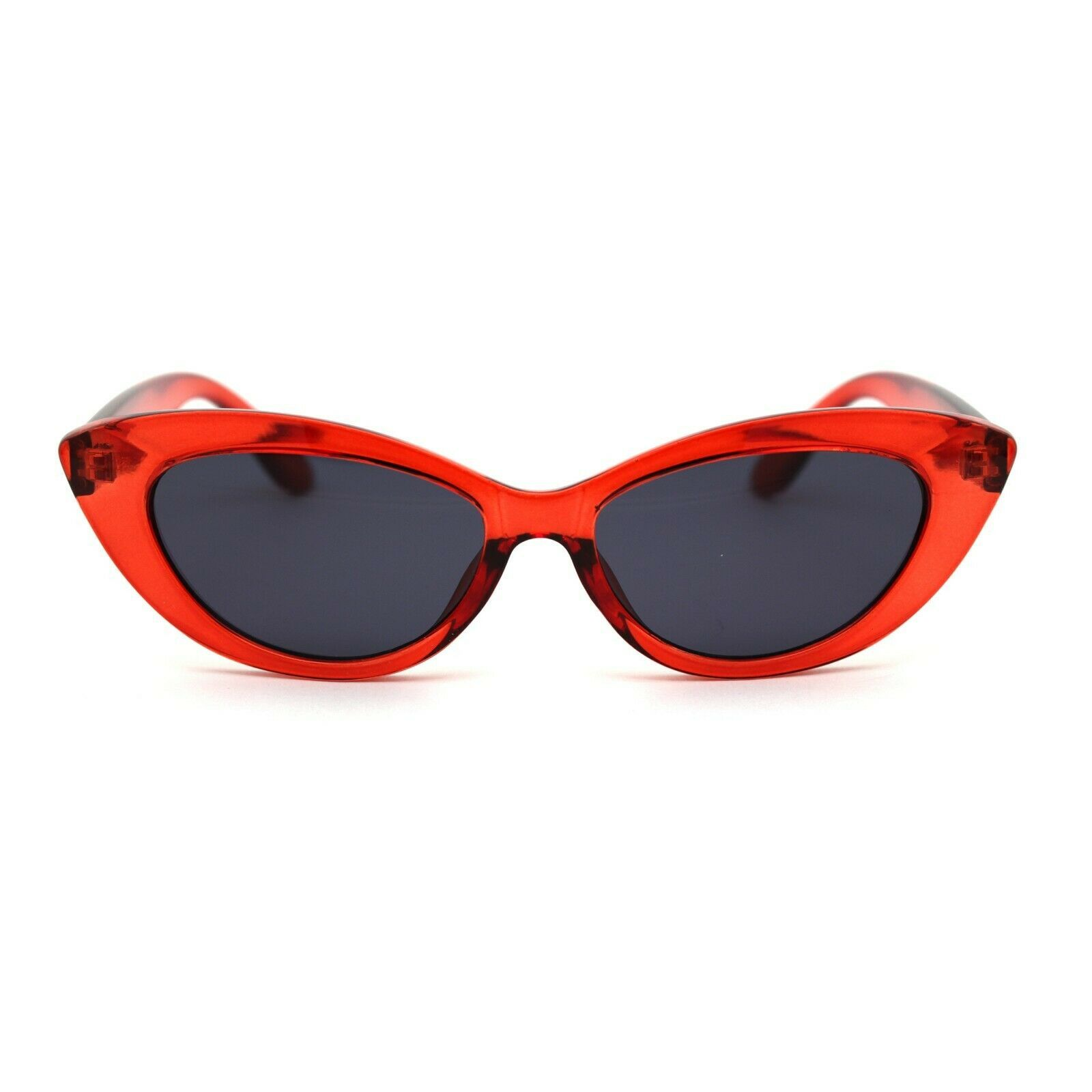 Womens Mod Thick Plastic Cat Eye Gothic Sunglasses