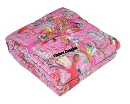 Bird Print Pink Handmade Baby Quilt For Nursery Toddler Warm Soft Baby B... - $34.29