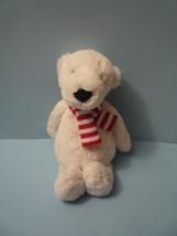 "JellyCat Pax Polar Bear Plush Soft Stuffed Toy 12"" Red & white Scarf - $15.84"