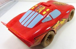 Cars Talking Lightning McQueen Mud Track - Movable Eyes - Disney Pixar- RARE image 3