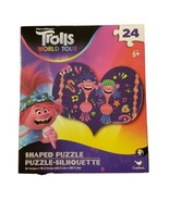 Trolls Movie Puzzle Heart Shaped Cooper & Prince D 24 piece New - $4.99