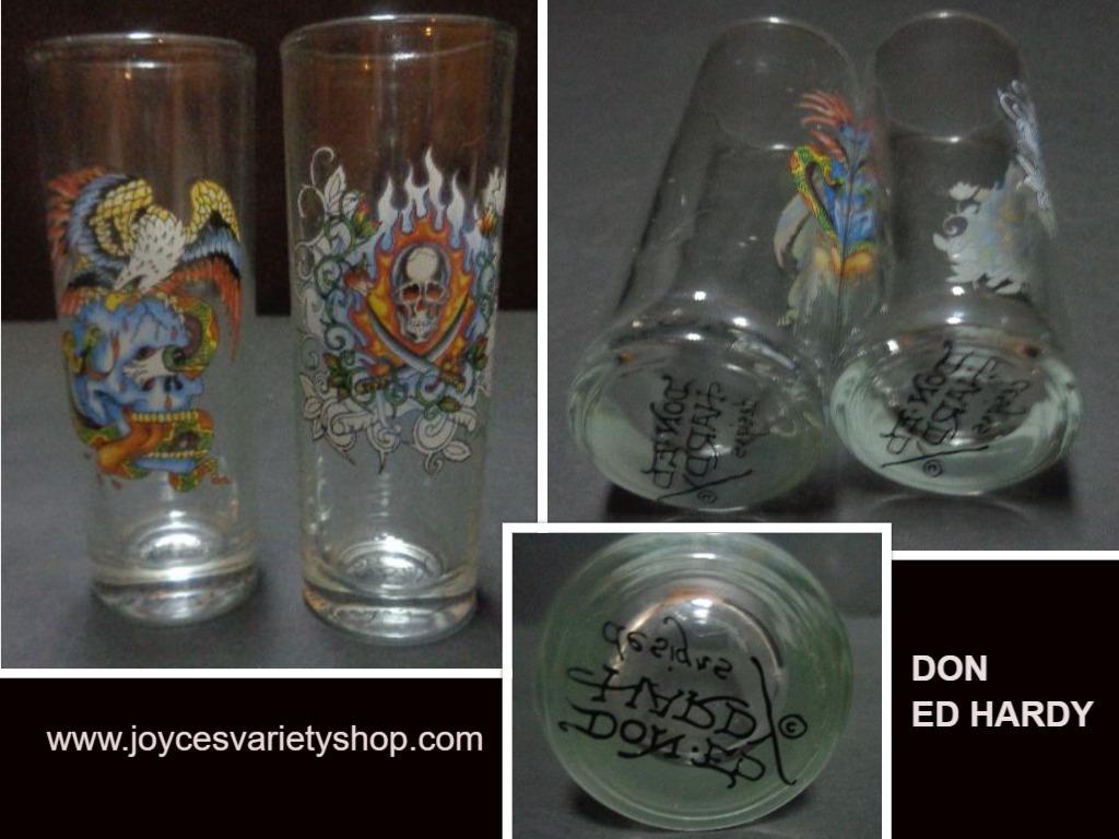 Ed hardy shot glasses web collage