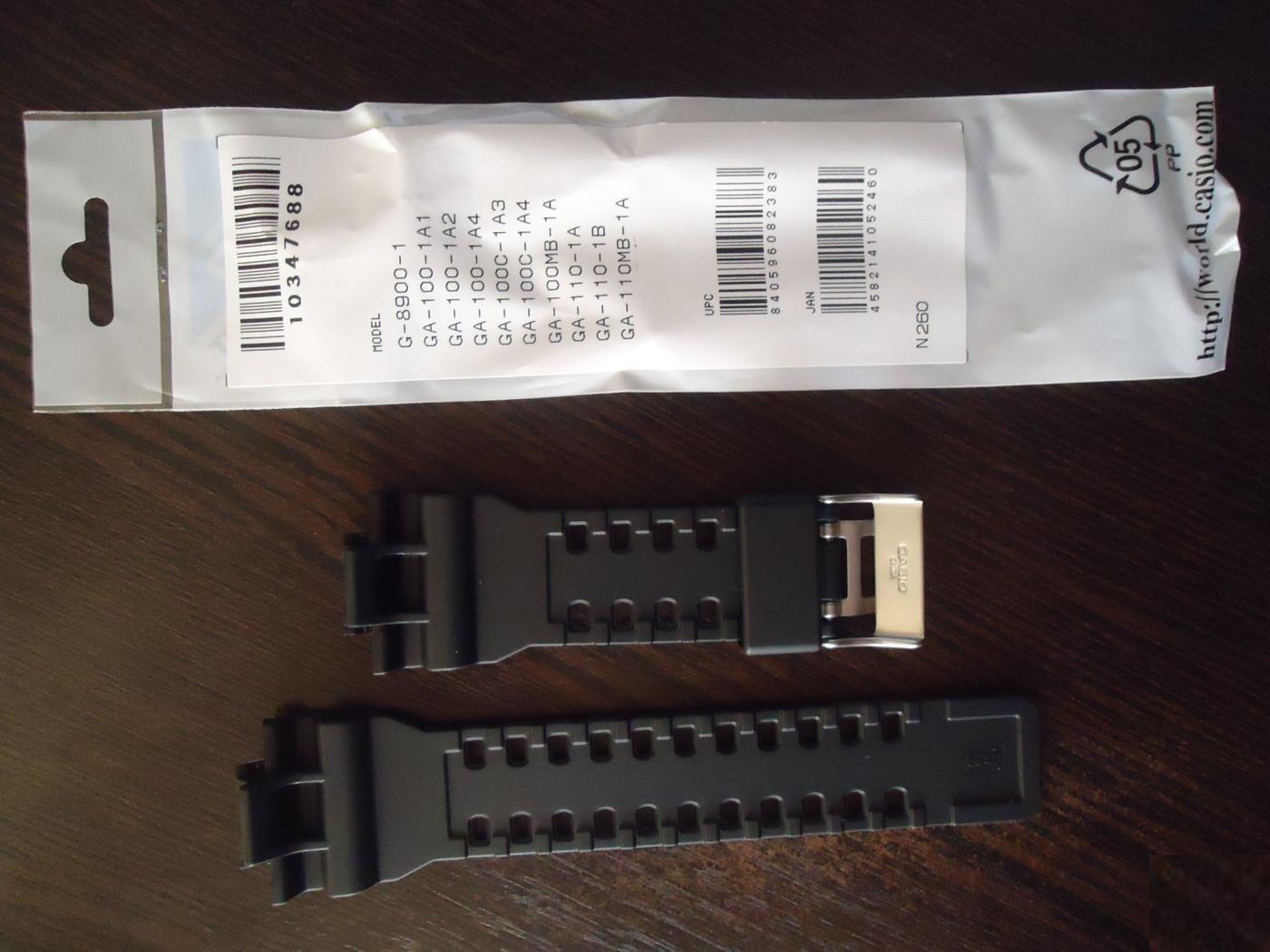 Casio G Shock Original Black Watch Band And 8 Similar Items Gac 110 1adr Strap Ga 100 1a1