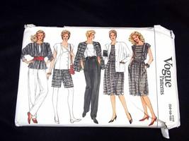 Vogue Pattern 8617 Misses jacket skirt pants shorts & top Size 14 16 18 - $3.75