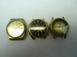 3 VINTAGE SEIKO 4004 QUARTZ 4633 0903 WATCHES FOR RESTORATION OR PARTS - $133.27