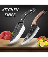 Serbian Hand Forged Chef Butcher Meat Cleaver Boning Hunting Knife with ... - $6.57+