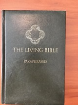 The Living Bible Paraphrased Green 1978 Padded Hardcover B19 - $12.19