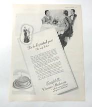 Vintage 1936 Campbells Soup print ad Cream of Mushroom - $6.99