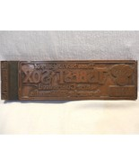 Vintage Clothing Advertising Tisbest Sox Copper Metal Printers Plate Block - $17.95