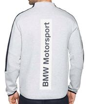 New Puma Bmw Motorsport Men's Premium MSP T7 Sweat Jacket Heather Gray 57277503 image 4