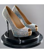 $2295 GUCCI Sofia Etoile Strass Crystal Silk Bridal Wedding Pumps BNIB US 8 - $995.00