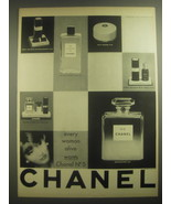1962 Chanel No 5 Perfume Ad - Every woman alive wants Chanel No 5 - $14.99