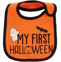 Baby My First Halloween Bib - Just One You - Orange - Bat Ghost Pumpkin - $5.99