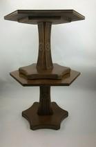 "2 Henredon End Side Table Nightstand Hexagon Mid Century Modern 24"" X 17... - $290.88"