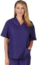 NATURAL UNIFORMS Women's Scrub Top Medical Scrub Top XS PURPLE - $29.85