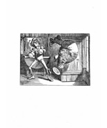 Alice In Wonderland Giclee Print From Sir John Tenniel- '...a somersault.' - $12.74